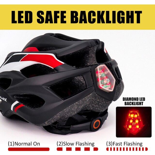 Victgoal capacetes de bicicleta led das mulheres dos homens esportes polarizados óculos de sol luz traseira mtb mountain road ciclismo capacetes 4