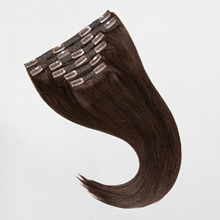Hair-Extensions Weft-Machine Human-Hair Clip-In Remy 240G Dark-Brown Thick-Ends Lace