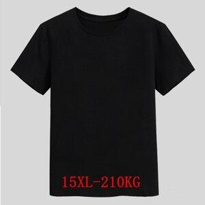Image 1 - Mens Big T Shirt Large Size 15XL 14XL 13XL 8XL 9XL 10XL 11XL 12XL Short Sleeve Round Neck Loose Casual Black Gray White