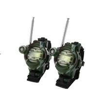 2 stücke In 1 Walkie Talkie Uhr Camouflage Stil Kinder Spielzeug Kinder Elektrische Starke Klar Palette Sprech Kinder Interaktive Radio
