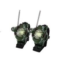 2pcs In 1 Walkie Talkie นาฬิกา Camouflage สไตล์เด็กของเล่นเด็กไฟฟ้า Strong Interphone เด็ก Interactive วิทยุ