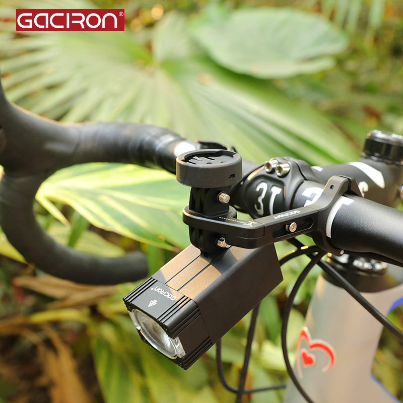 GACIRON Intelligent USB Rechargeable IPX6 Waterproof for Go Pro Mount Bike Light