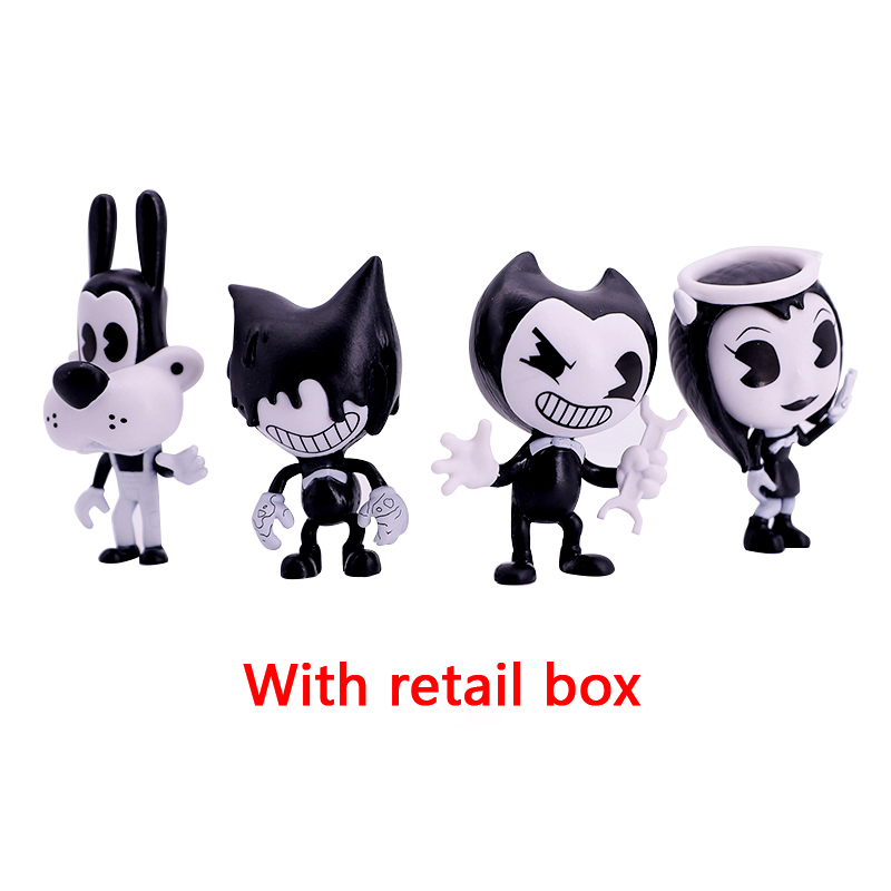 Bendi 4-Pack Figures And The Ink Machine Bendi Figures Popular Hot Toys For Kids