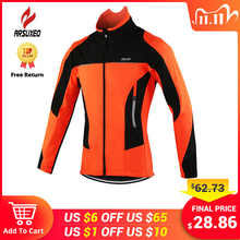 Arsuxeo Fleece Thermische Fietsen Jas Herfst Winter Warm Up Fiets Kleding Winddicht Windjack Jas Mtb Bike Jerseys