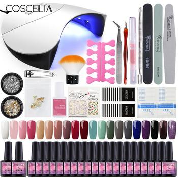 COSCELIA US Warehouse Clearance Nail Set UV LED Lamp Dryer Nail Gel Polish Kit Soak Off Manicure Tools Set For Nail Art Tools 1