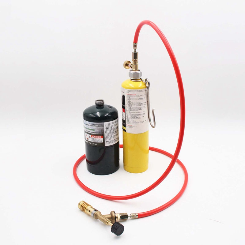 For Mapp Gas Turbo Torch Plumbing Turbo Torch With Hose For Solder Propane Welding Kit