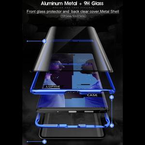 Image 5 - קדמי + אחורי דו צדדי מזג זכוכית מקרה לסמסונג גלקסי הערה 10 + 5G S9 S8 S10 בתוספת S10E הערה 10 בתוספת 5G 9 8 מגנטי מקרה