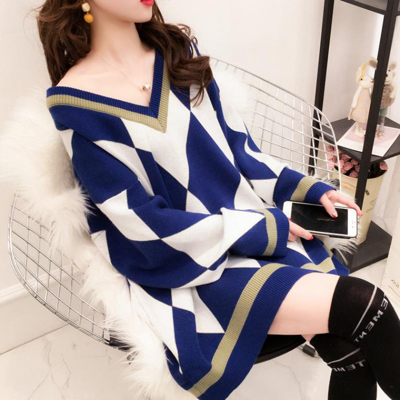 Long Sleeve Autumn Winter Woman Sweater Knit Pullover Clothing Korean Style Woman Sweater