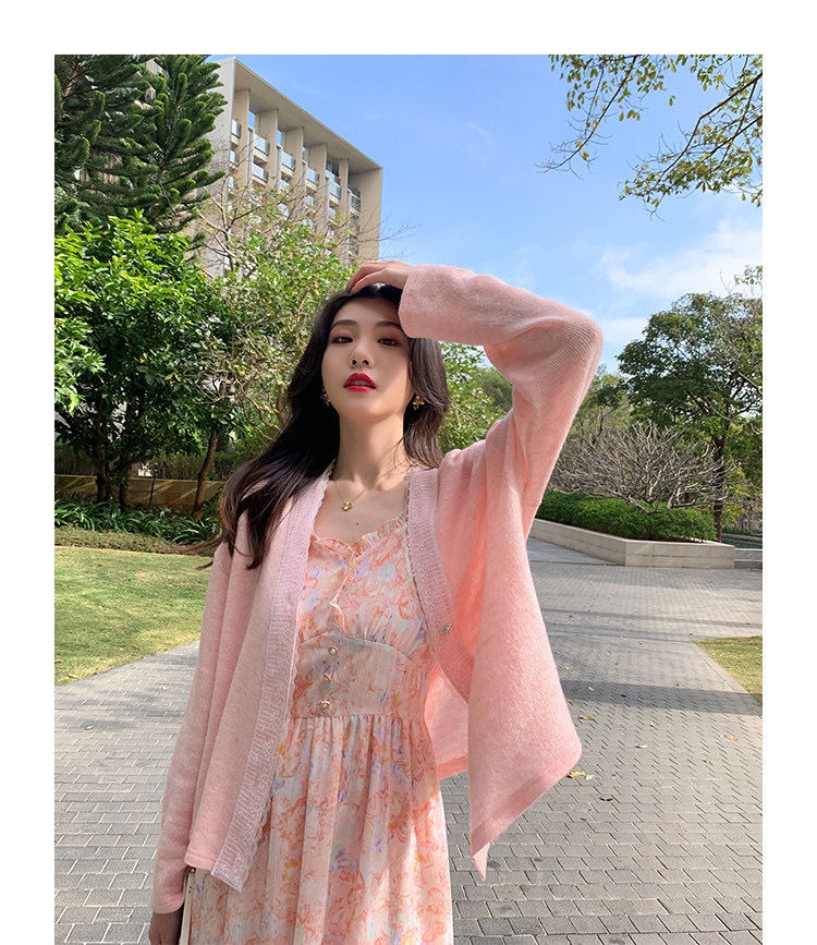 2021 Summer Sweet Beach Strap Dress Women V-neck Floral Printed Dress Sexy Lace Design Elegant Dress Fairy Korean Kawaii Slim