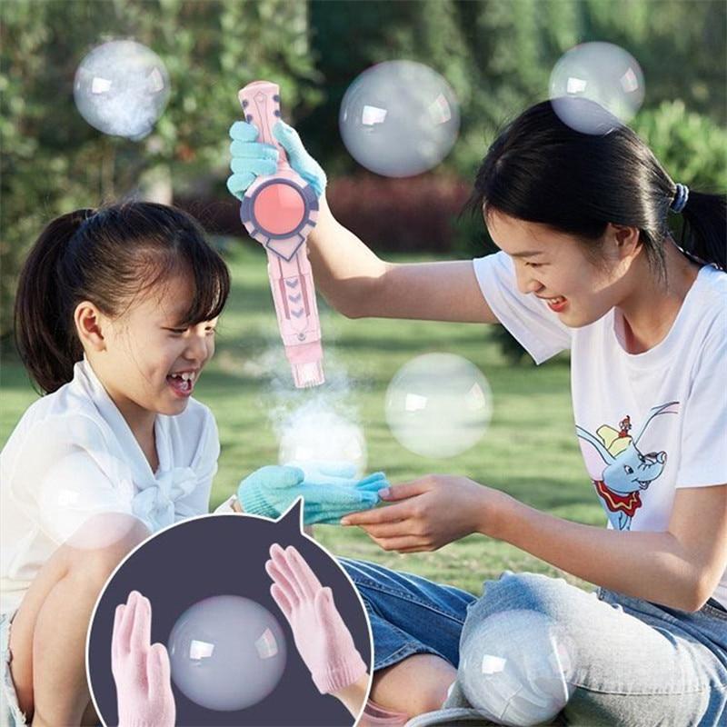 New Smoke Magic Bubble Machine Wedding Supplies Electric Automatic Bubble Bottle Maker Gun Kids Bath Toys Outdoor Toy for Kids img3