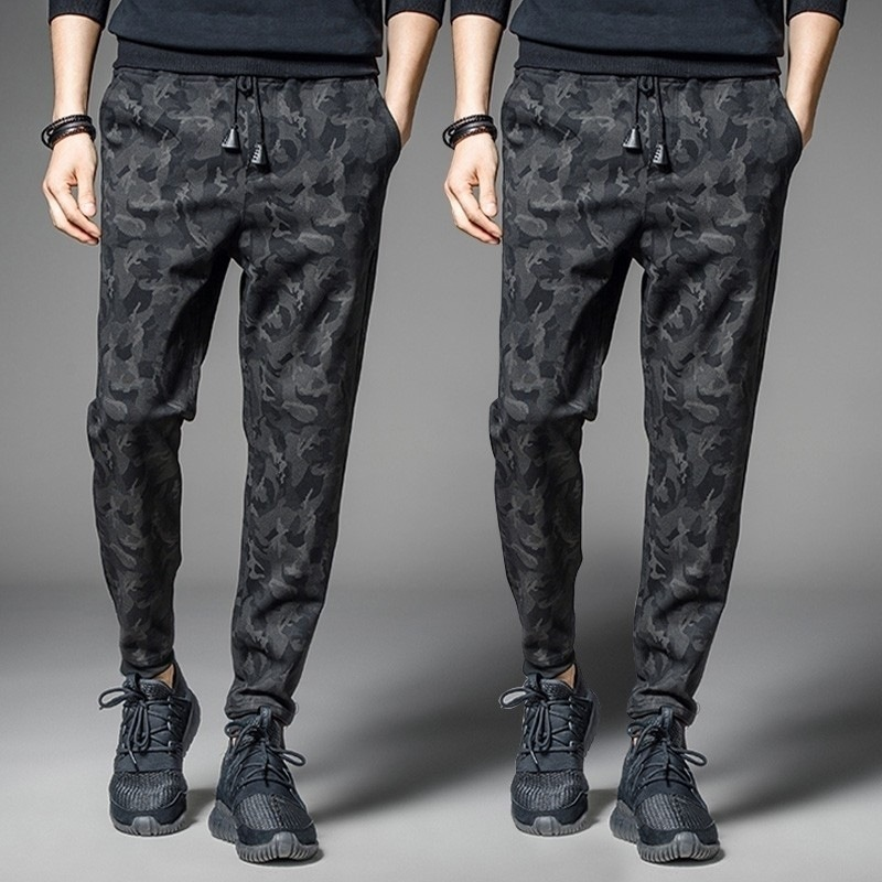 2020 Autumn New Products Men Dark Stripes Men's Trousers Fashion Casual Pants Korean-style Harem Pants Men's Quick-Dry Sports Pa