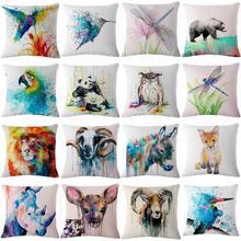 цена на Pillowcase Lumbar Cushion Pillowcase Linen Without Core Sofa Living Room Room Home Decoration Painting Pillow