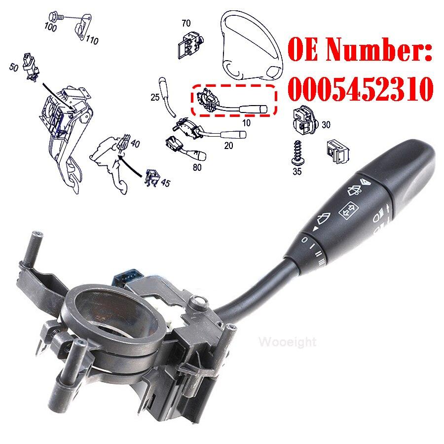 Wooeight 0005452310 5 pinos indicador da coluna de direção limpador dianteiro lavadora talo interruptor apto para mercedes benz c clk classe w203 w209