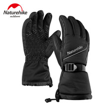 Naturehike Women Men Warmest Waterproof Winter 3M Thinsulate Snowboard Gloves Cold Weather Winterproof Goatskin Snow Ski Gloves(China)