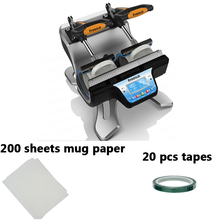 free shipping discount with gift 4 color 2 station silk screen printing machine tshirt printer press equipment carousel squeegee ST 210 Set A  2  in 1  Double Station Mug Press Machine Mup Printing Machine Sublimation Printer