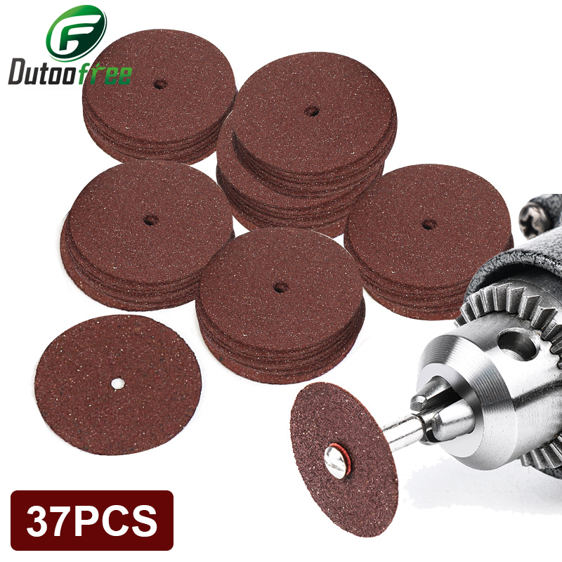 37PCS Power Tool Dremel Accesories Abrasive Cutting Discs Cut Off Wheels Disc for Dremel Rotary Tools Electric Metal Wood Cut