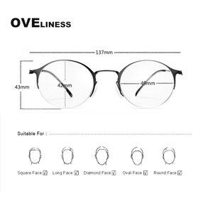 Image 5 - 純チタンレトロラウンドメガネフレーム女性男性 2020 光学コンピュータ眼鏡近視処方透明ガラス眼鏡