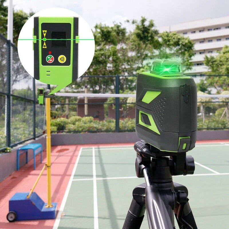 2020 3D Grün Strahl Rotary 12 Kreuz Linie Selbst Nivellierung Laser Ebene Li Batterie + Empfänger Niveles Para Construcion Werkzeuge 603CG Neue