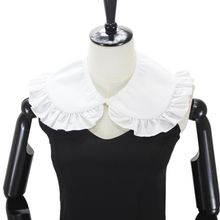 Japanese Womens Sweet Doll False Fake Collar Ruffles Trim Detachable Half Shirt