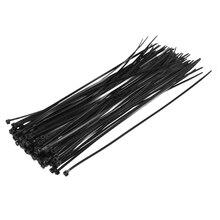 Uxcell кабельные стяжки 250 мм x 3,6 мм самоблокирующиеся Нейлоновые Стяжки черные 250 шт