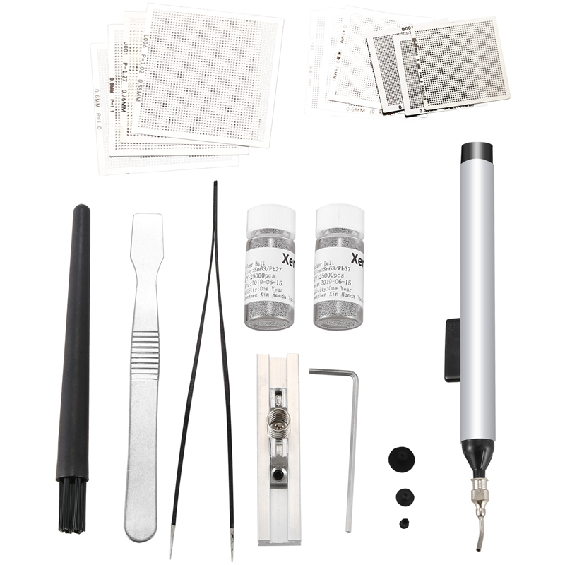 Stencils Bga Reballing Kit For Xbox Ps3 Chip Reballing Repair Game Consoles Repair Tools Kit