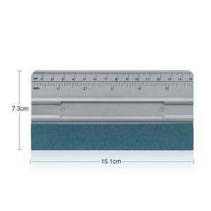 Image 5 - FOSHIO 3pcs Vinyl Wrap Car Tool Kit 100CM No Scratch Suede Cloth Window Tint Carbon Fiber Card Squeegee Scraper Auto Accessories