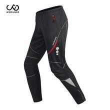 WOSAWE 겨울 남성용 사이클링 바지 방풍 방수 양털 짙은 산악 자전거 라이딩 바지 Motobike Trousers