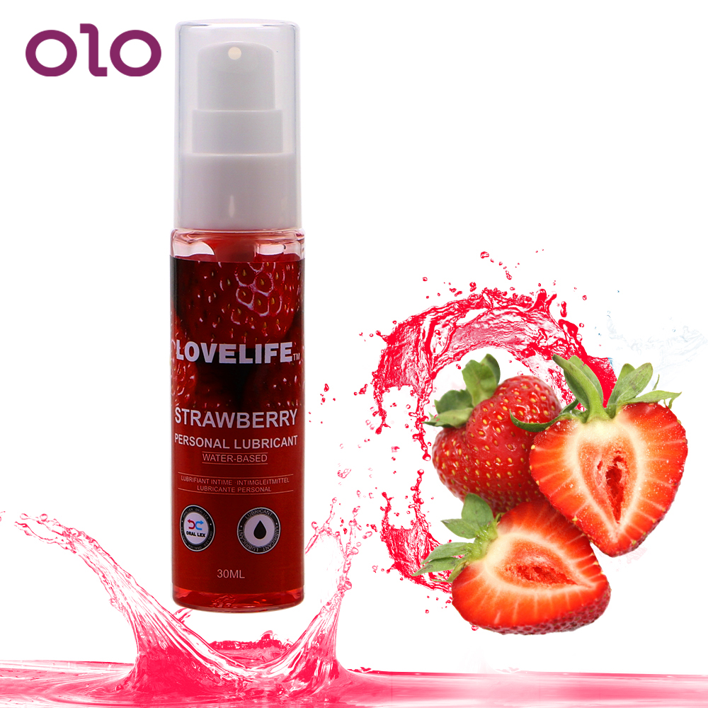 OLO 30ml For Anal Vaginal Adult Sex Products Strawberry Flavor Edible Lubricant Body Lubricating Gel Oral Sex Lubricating Oil