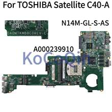 KoCoQin Laptop motherboard For TOSHIBA Satellite C40-A Mainboard A000239910 DA0MTKMB8C0 N14M-GL-S-AS(China)