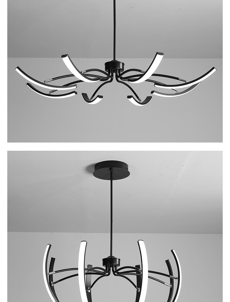 Hf0e97d2245e941e6892b68b726af1593i MDWELL Matte Black/White Finished Modern Led Ceiling Lights for living room bedroom study room Adjustable New Led Ceiling Lamp