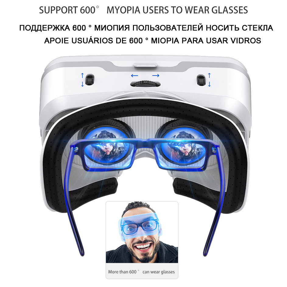 VR Shinecon 10.0 Casque Helmet 3D Glasses Virtual Reality Headset For iPhone Android Smartphone Smart Phone Goggles Lunette Set 1