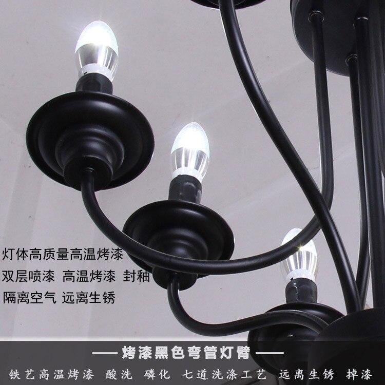 Post Moderne Nordic Visgraat Hedendaagse Hanglamp Woonkamer Eetkamer Dimbare G9 Lamp Opknoping Lampen LED - 4