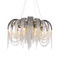 Manggic Modern Vintage Aluminium chandelier Luxury Aluminium Chain Italian Chain Button Lighting for Home Hotel Restaurant Lamp