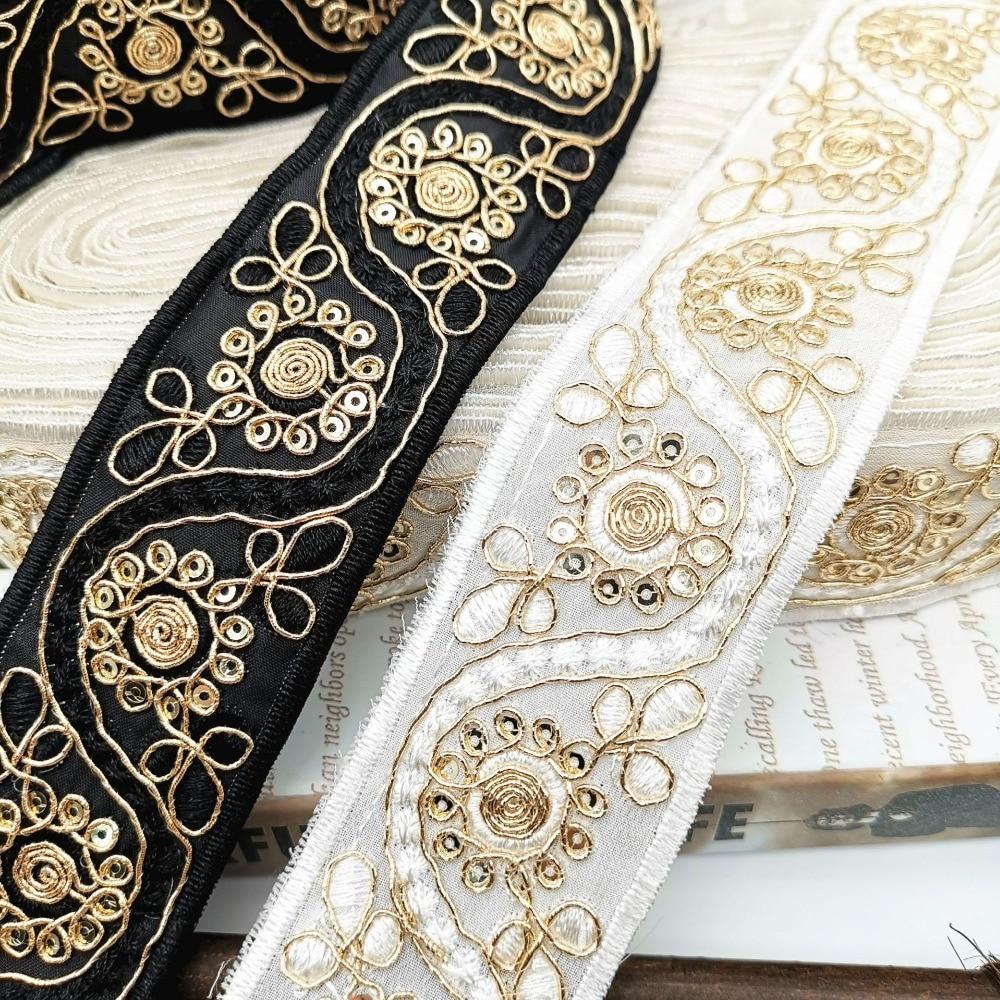 Broderie Bordures en Dentelle Vêtements Décoration Accessoires À faire soi-même largeur 10 cm 5 Yd environ 4.57 m