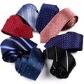 Новый Шелковый мужской галстук 6 см для отдыха красочный Модный Полосатый Галстук в клетку тонкий галстук для делового костюма свадьбы вече...