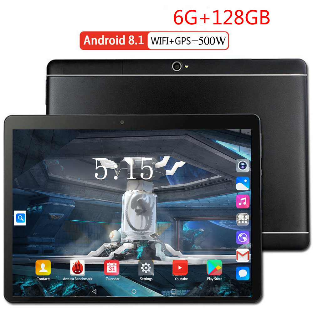 10.1 Inch 3G/4G LTE Tablet PC Google Store Android 8.0 Octa Core 6GB+128GB 1280*800 IPS Dual SIM Card WIFI Smart Phone Tablets