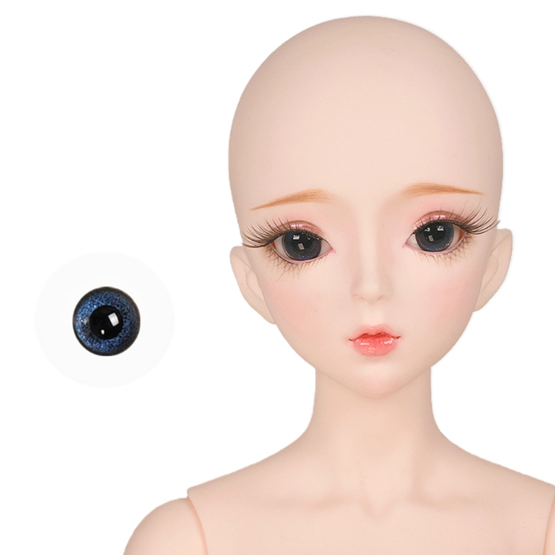 For Bjd Eyeball 14mm Glass Material Green Blue Eyes Suitable For 1/3 1/4 Doll Accessories 7