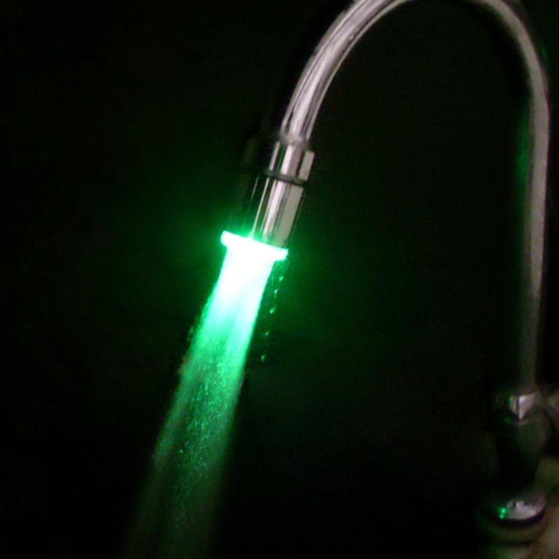 Hf0ea3d8a9e384b5981b4cb77802ae2d53 3 Colors RGB Glow Temperature Shower LED Faucet Light Water Shower Head Stream Sink Tap Bathroom Kitchen Accessories