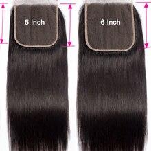 Missanna бразильские прямые волосы 5x5 6x6 на шнуровке естественный цвет на шнуровке с детскими волосами предварительно выщипанная линия волос че...