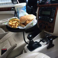 Soporte de escritorio de coche para bebidas, bandeja giratoria de comida, organizador de botellas de café, hamburguesas, patatas fritas, mesa de automóviles, accesorios automáticos