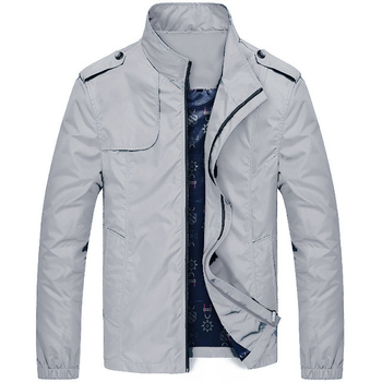 Men's Exclusive Jacket, Grey and Black, Thin and Thick