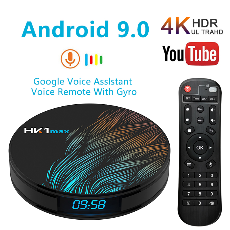 HK1 Max  Smart Android TV Box 4GB 128GB 64GB 32GB Rockchip 4K Wifi Netflix Set Top Box Media Player 2GB16GB Android 9.0 BOX