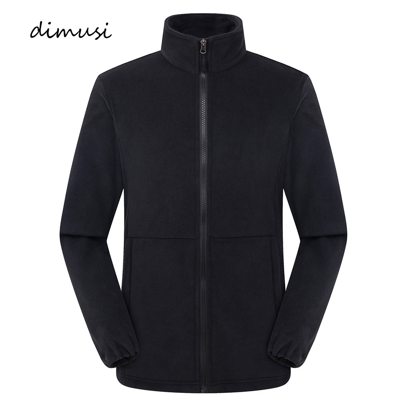 DIMUSI Men's Jackets Casual Men Fleece Softshell Warm Sweatshirts Men Stand Collar Tactical Thermal Hoodies Coats Clothing
