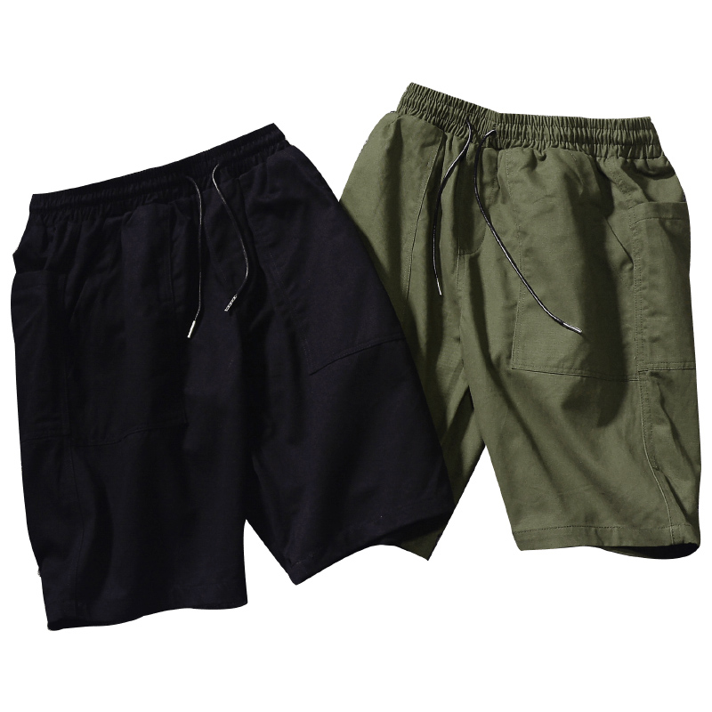 Fashion Men Shorts Solid Color Loose Muscle Cotton Streetwear Shorts Hip Hop Stretch Trousers Szorty Fitness Clothing XX60MS