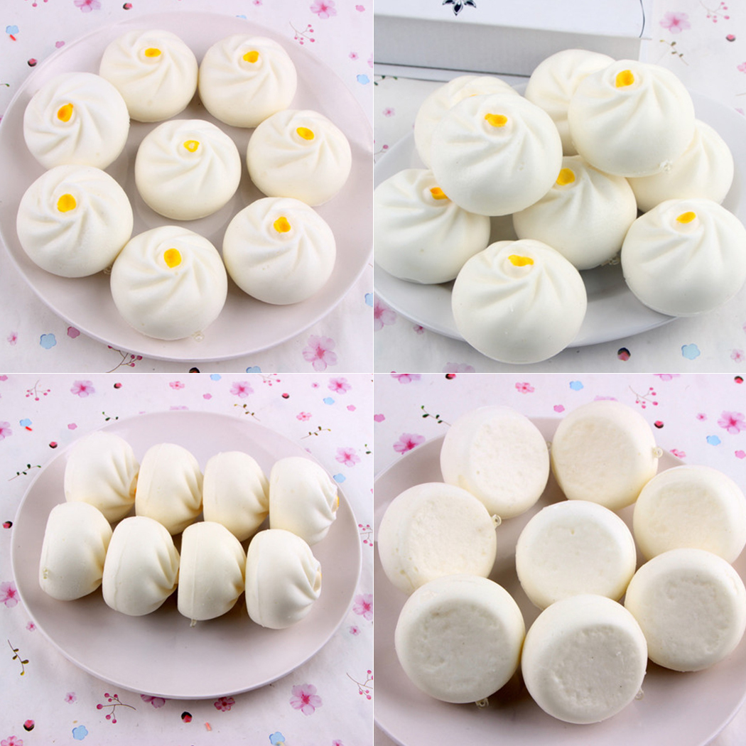 Mini Soft Chinese Steamed Stuffed Bun Bread Squishy Food Toys For Children Cream Scented Slow Rising Adults Stress Relief Toy