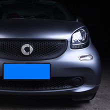 Car front Turn Signal Indicator Lamp Protective cover For Smart fortwo 453 Chromed 3D stickers car accessories exterior styling