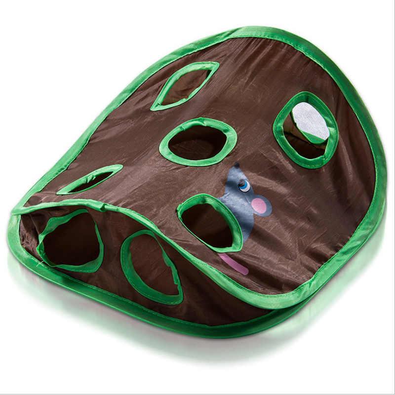 재미 있은 애완 동물 고양이 쥐 정보 교육 장난감 9 구멍 터널 애완 동물 고양이 놀이 장난감 터널 튜브 애완 동물 용품과 벨 텐트 재생