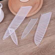 Kitchen Knife Blade-Protector-Cover 3/5/7/8inch-knife Plastic for 4pcs Transparent