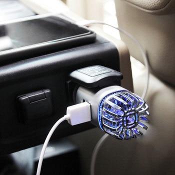 2 in 1 Car Air Purifier Ionizer Dual USB Fresh Air Ionic Purifier Oxygen Bar Ozone Ionizer Smoke Generator For Cars 1