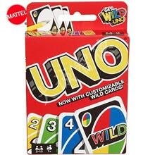 Mattel игры натуральная UNO карточная игра Семья забавные развлечение настольная игра веселые игры в покер карты подарочная коробка